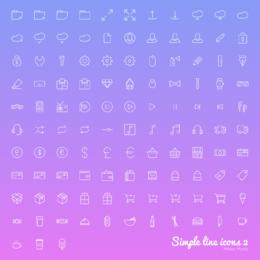 Web linear e conjunto de ícones da interface do usuário