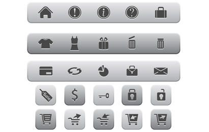 Internet and Online Shopping Icons
