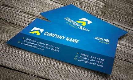 Blue Pixel Texture Business Card
