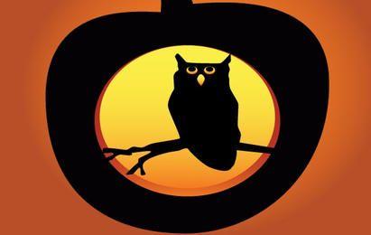 Calabaza de Halloween del búho