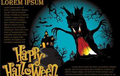 Vector de Halloween Poster