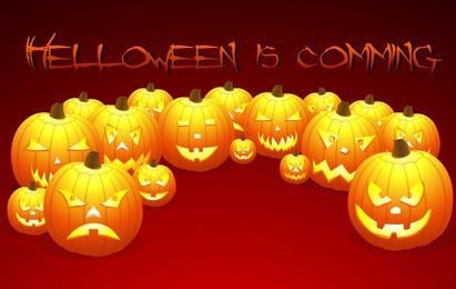 Jack o Lantern Pumpkin Set