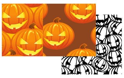 Kostenlose Vector Kürbis Patterns Halloween Jack O Laternen