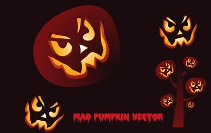 Mad Pumpkin Vector