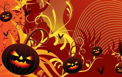 Evil Pumpkin Background