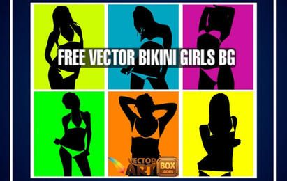 Vektor-Bikini-Mädchen-Knall Art Style Background