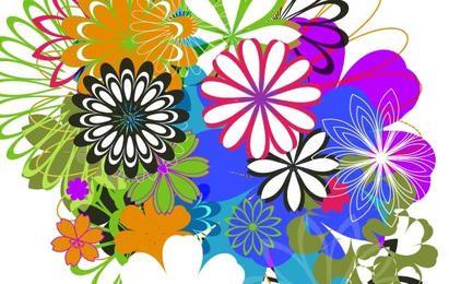 Vectores libres al azar parte 7 flores