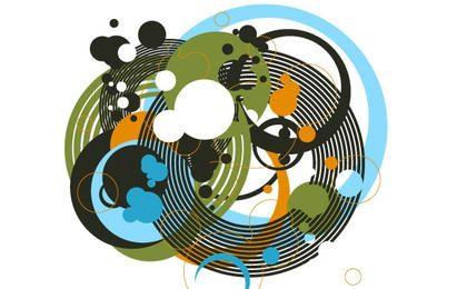 Zufällige freie Vektoren Teil 1 Kreise