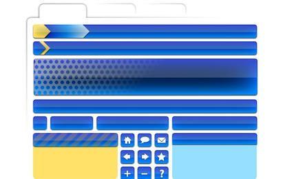 Vector libre elementos de página web Parte 2