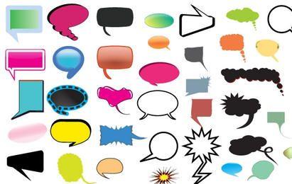 Pacote de balões de pensamento e fala