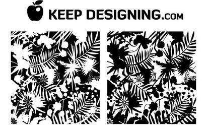 Jungle Splatter Wallpaper Grunge Vector- Free