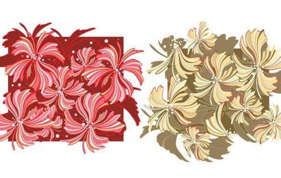 Whispy Flower Vector Wallpaper- Gratis