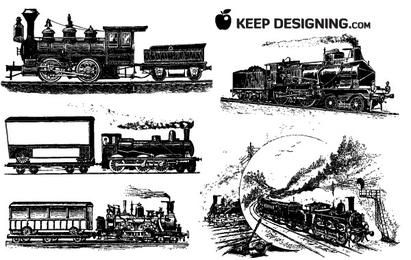 10 Train Vector Graphics