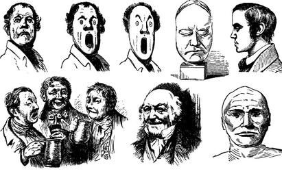 14 Freaky Faces Vector Set