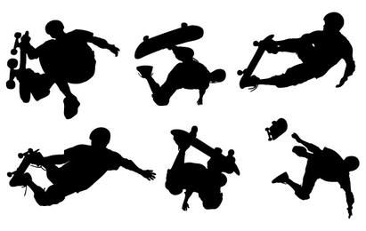 Skate Boarding Art vetores de Livre