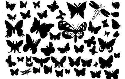 Siluetas de mariposa