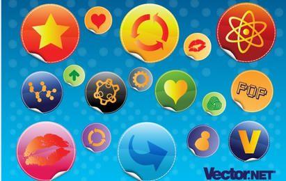 Glossy Design Badges