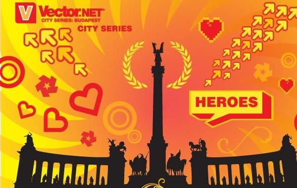 Budapest Heroes Square Vector