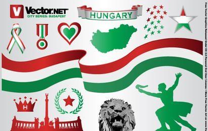 Diseños vectoriales de Budapest