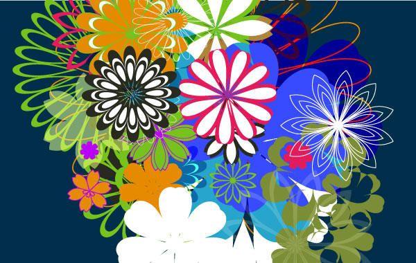 Random Free Vectors - Part 7: Flowers