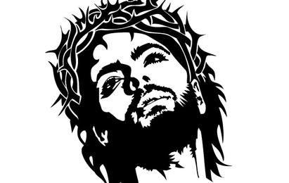 Vetor de rosto de jesus