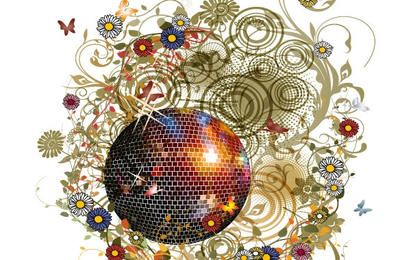 Floral Disco Ball Design