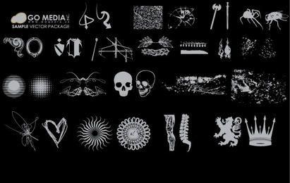 Pacote de ícones do grunge