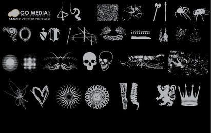 Paquete de iconos de grunge