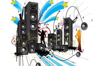 Grungy musikalische Plakatgestaltung