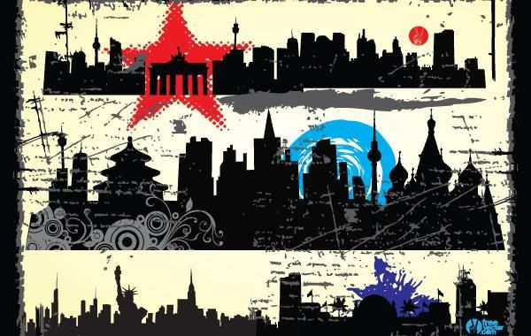 Grungy Silhouette City Pack