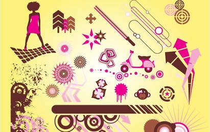Funky Cool Vector Graphics