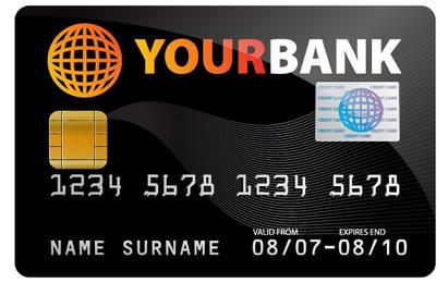 Credit card free vector