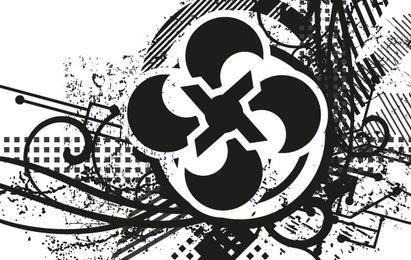 Desenho abstrato grunge