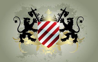 Medieval heraldic shield