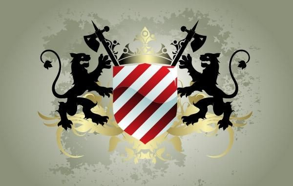 Escudo heráldico medieval