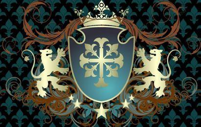 Escudo adornado