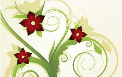Fondo floral abstracto 2