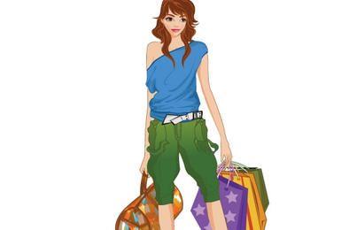 Menina de compras 16