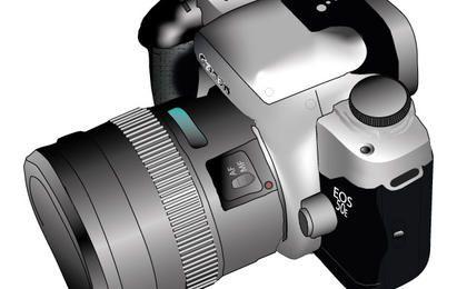 Câmera de vetor, vista superior