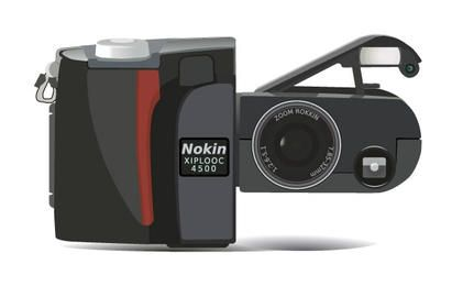 Câmera Digital Nikon Coolpix clip art