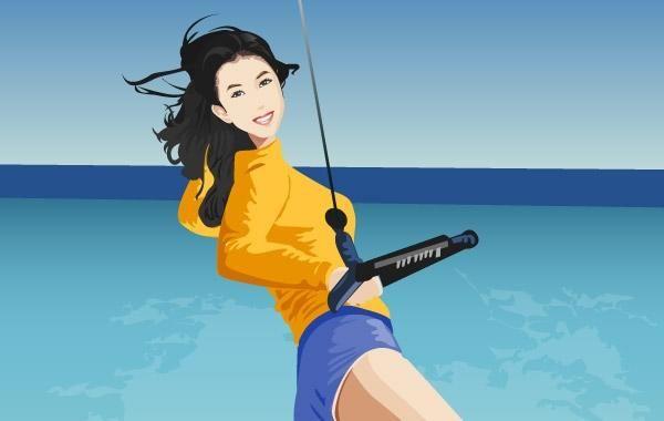 Surfing sport vector 7