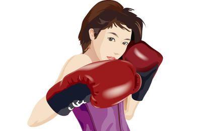 Boxeo deporte vector 2