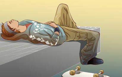 Skateboarding vector 10