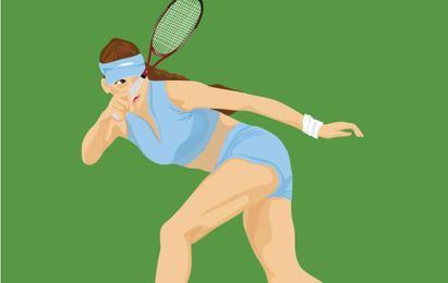 Tennis sport vector 2
