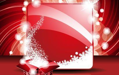 Cartão de ano novo e modelo de caixa de presente