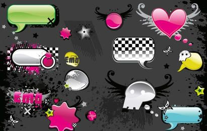 VECTOR MATERIAL ELEMENTS OF THE TREND WEB2.0