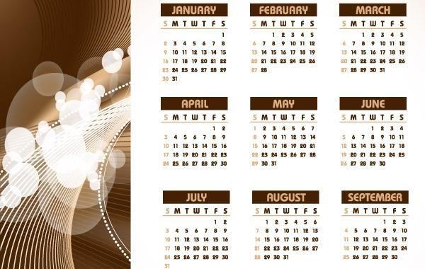 Calendar Design Illustrator : Table calendar template vector design corel draw cdr