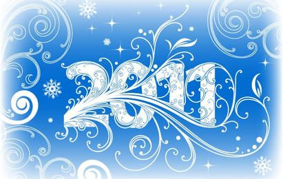 NEW YEAR BANNER 2011 VECTOR ADOBE ILLUSTRATOR CS4 AI DESIGN TUTORIAL