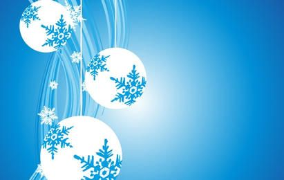 Fondo de adornos de Navidad de copo de nieve