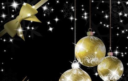 Gold Christmas vector elements 25